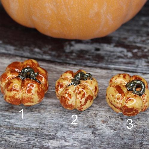 Ceramic Pumpkin - Autumn Leaves