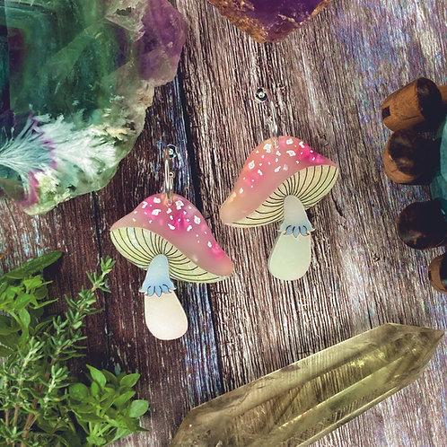 Magic Mushroom Earrings *limited*
