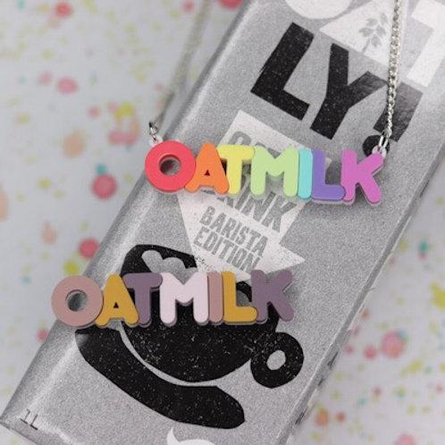 Oat milk Necklace/Brooch