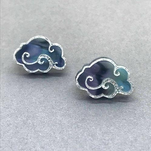 Noir Cloud Earrings