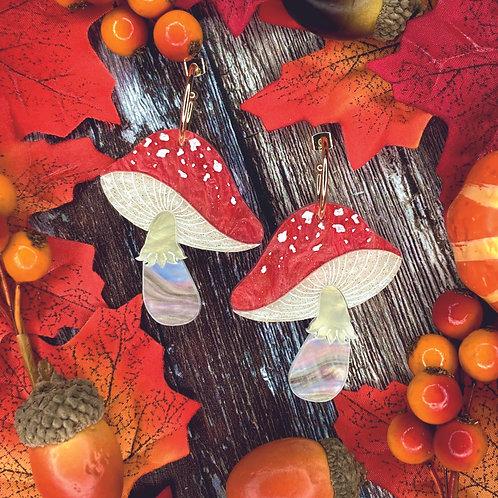 Magic Mushroom Earrings