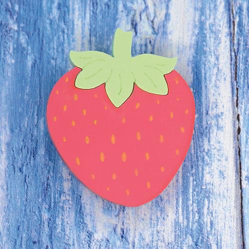 Strawberry Brooch/Hairslide
