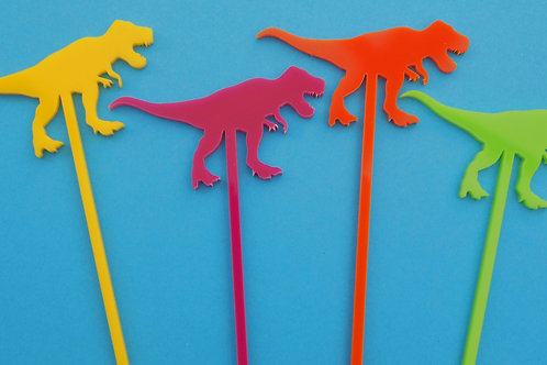 T-Rex Cocktail Stirrers - Set of 4