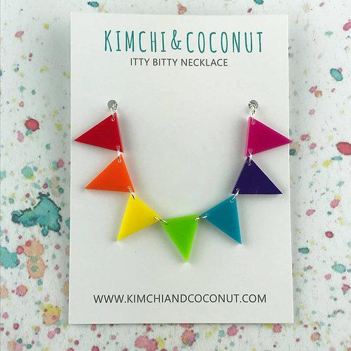 Rainbow Bunting Necklace