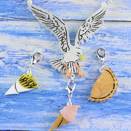 Seagull Necklace Set