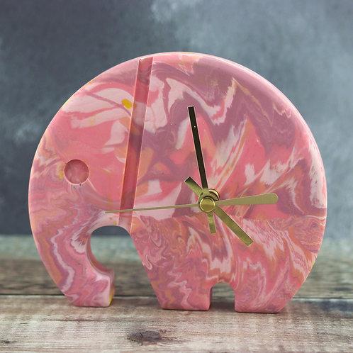 Elephant Clock - Pinks