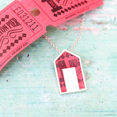Red Beach Hut Necklace
