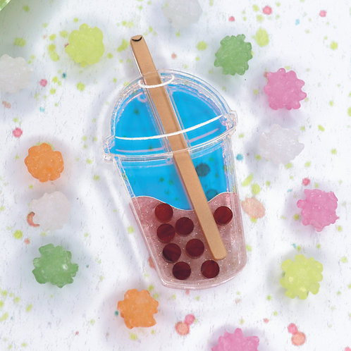 Bubble Tea Brooch