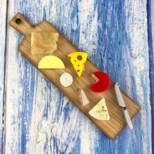 Cheese Board Brooch