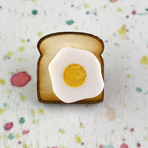 Toast & Egg Pin