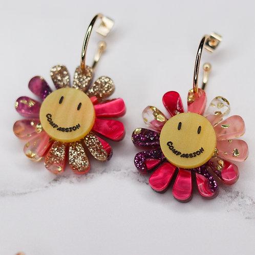 Compassion Flower Earrings - Lust