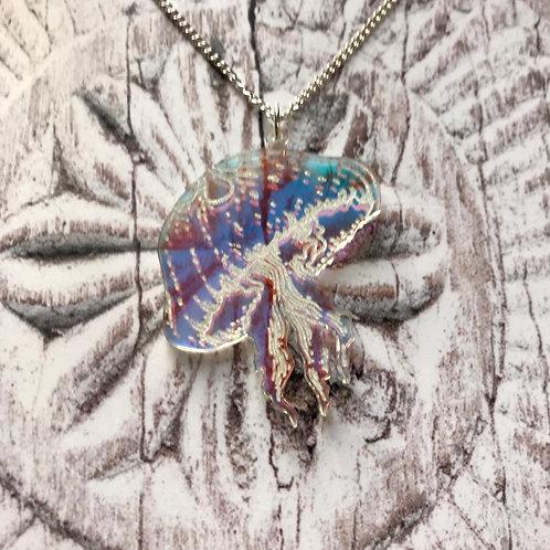 Tiny Jellyfish Necklace Iridescent