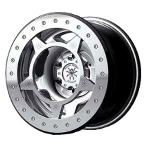 17x9.5, 8on6.5 lug pattern, silver wheel with silver ring