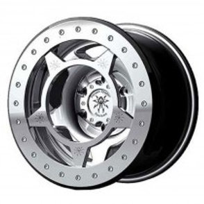 17x9.5, 6on5.5 lug pattern, silver wheel with silver ring