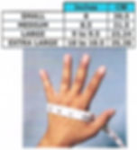 Riding Gloves Sizing Chart