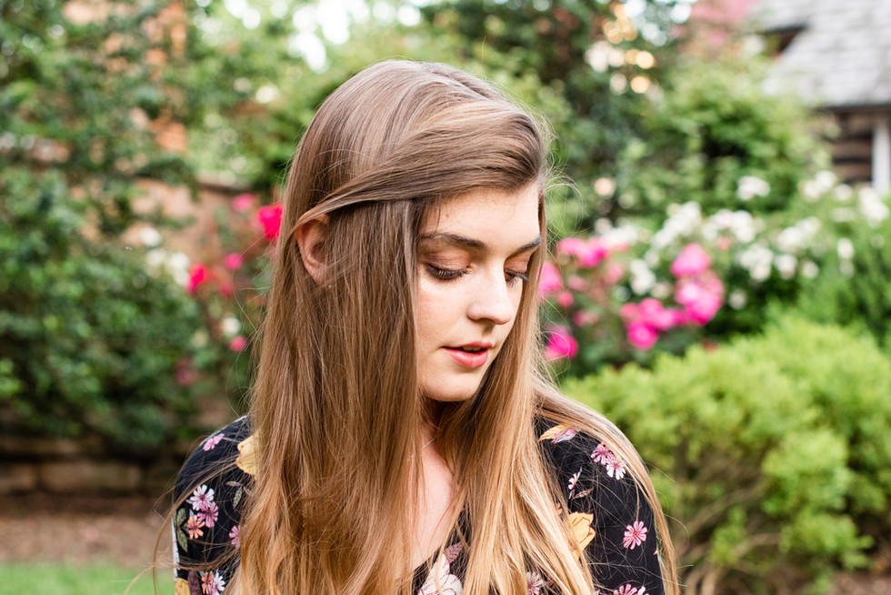 Young Woman in Downtown Leesburg, Virginia