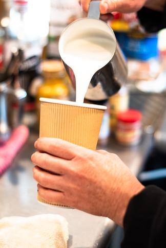 Back Street Brews Coffee and Tea Shop, Latte
