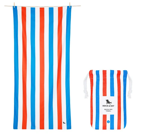 Dock & Bay Towel L - Red and Blue Stripe