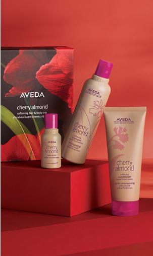Cherry Almond Hair and Body Softening Trio