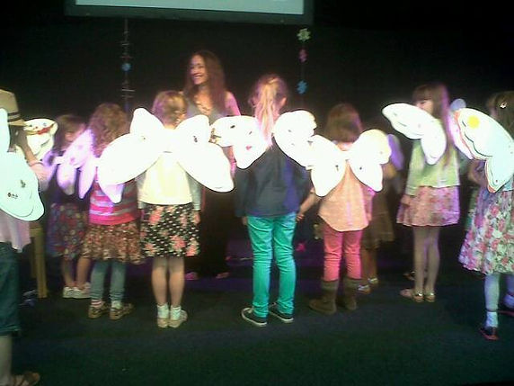 Sara Starbuck (author) fairy workshop at Hay Festival