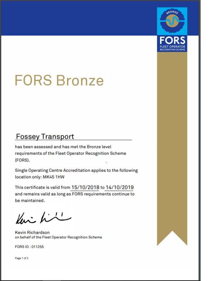 FORS Bronze