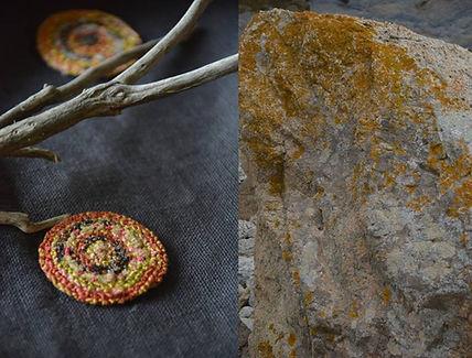 Pendentif brodé Nod's art textile