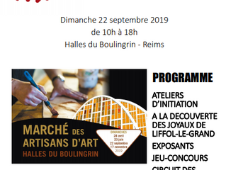 Salon des Artisans d'Art à Reims, 22 septembre 2019