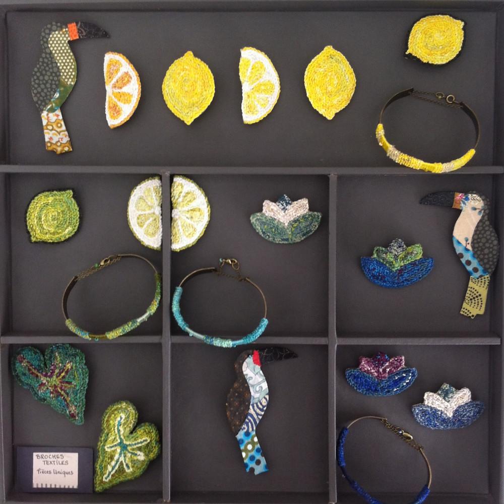 Nod's textile jewelry