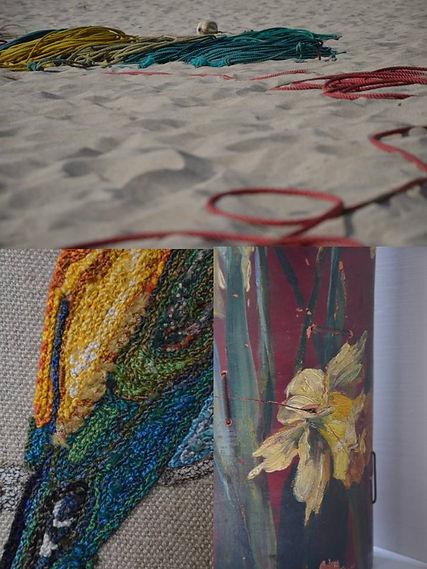 Oiseau brodé, sur mesure, art textile Nod's