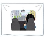 運転席と乗車スペース間の仕切カーテン