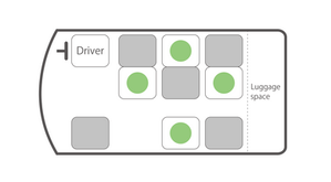 ハイエース・座席図