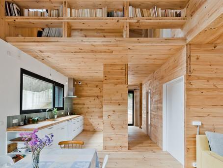 ไอเดีย ออกแบบโครงสร้างหลังคา เพดาน ด้วยไม้ สไตล์โมเดิร์น by Iworktop