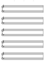五線譜 ( Piano用 )