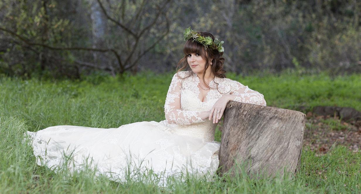 bohemian bride in nature