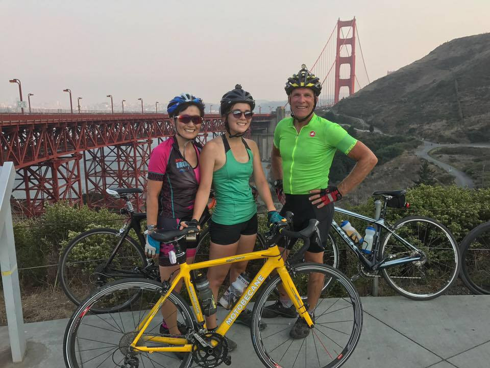 Bike riding for Oregon to Mexico, with a stop along the Golden Gate Bridge