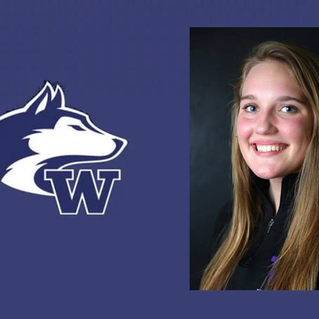 University of Washington's Karli Stevenson Named February 19 Women's Collegiate Club Northwe