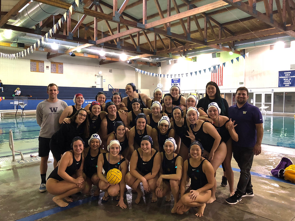 UW Huskies A and B at Rogers Aquatic Center Feb 18, 18