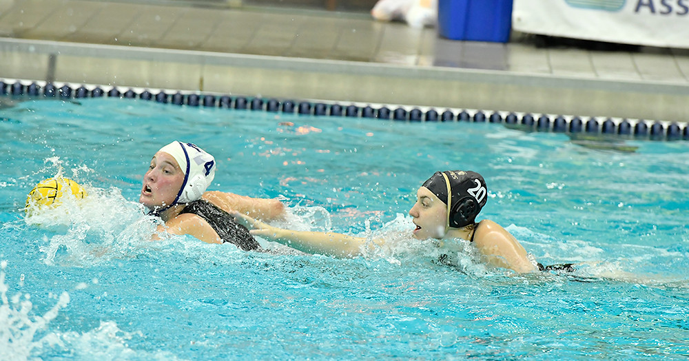 Karli Stone leading the counter attack against Lindenwood (Photo courtesy of the CWPA.)