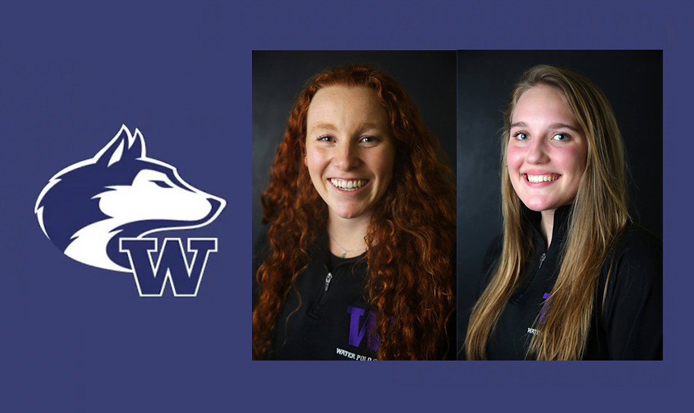 Jalene Weatherholt and Karli Stevenson of the University of Washington Water Polo