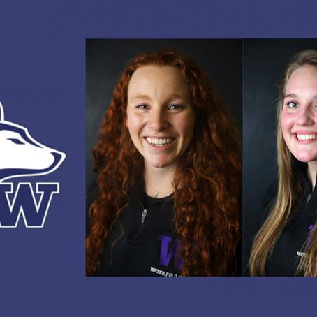 University of Washington's Jalene Weatherholt and Karli Stevenson Named March 5 Women's Coll