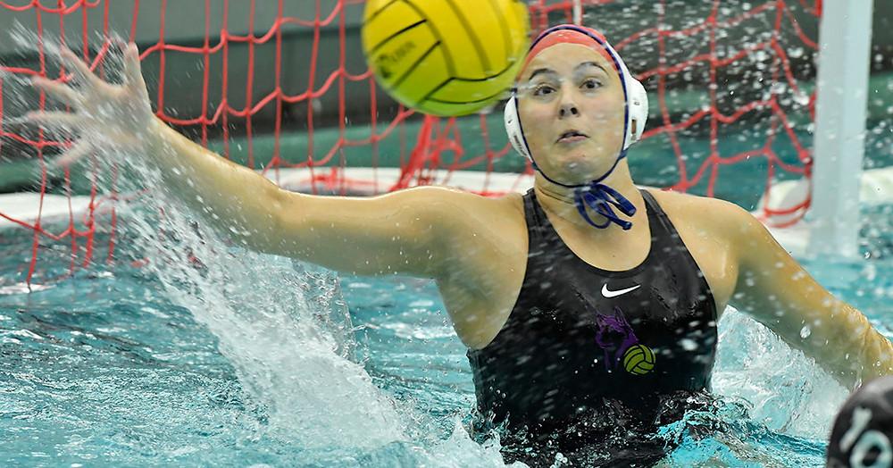 University of Washington goalie Shelby Smith (#1), Photo Courtesy of the CWPA