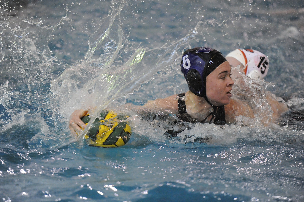 Mary Elizabeth Ward easily turns Oregon State guard to draw a 5 meter penalty shot converted by Bailey Deck