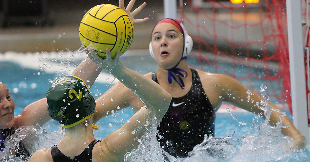 University of Washington goalie Shelby Smith (#1), Photo Courtesy of the CWPA