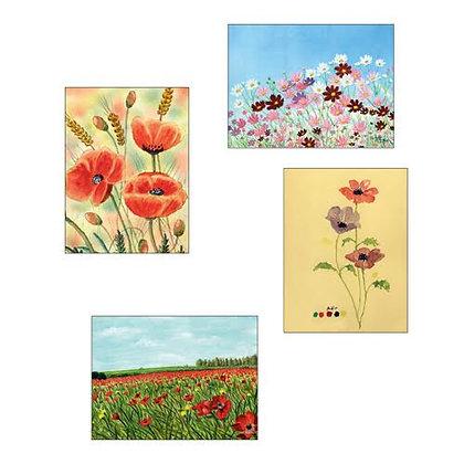 מגנטים -פרחים