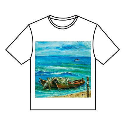 חולצה א' - סירה בים