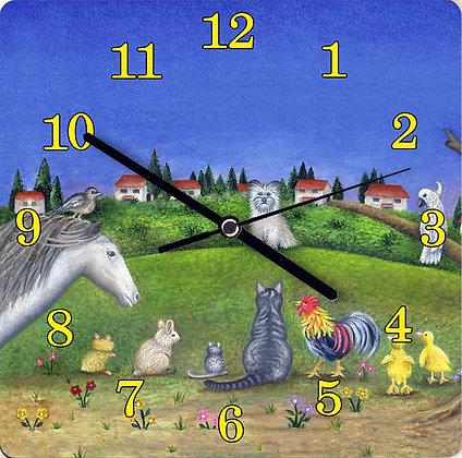 שעון קיר - ב' ילדים