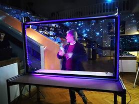 Светодиоды на прозрачной доске разноцвет