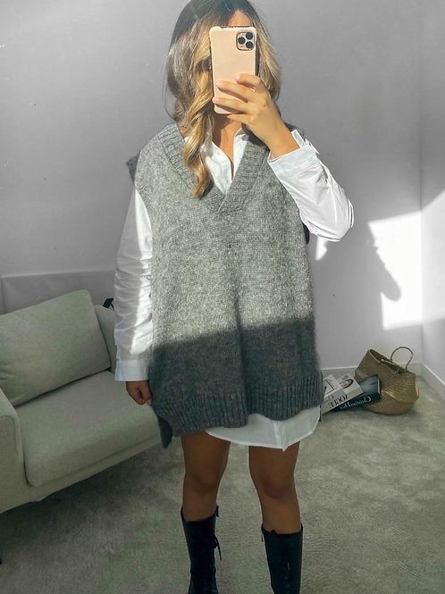 Grey Sleeveless Sweater