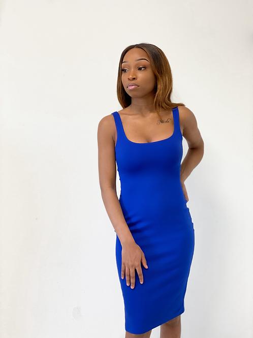 Blue body dress