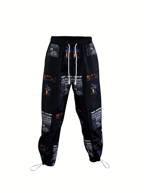 Black Graphic Pants